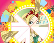 Ever After High round puzzle játék